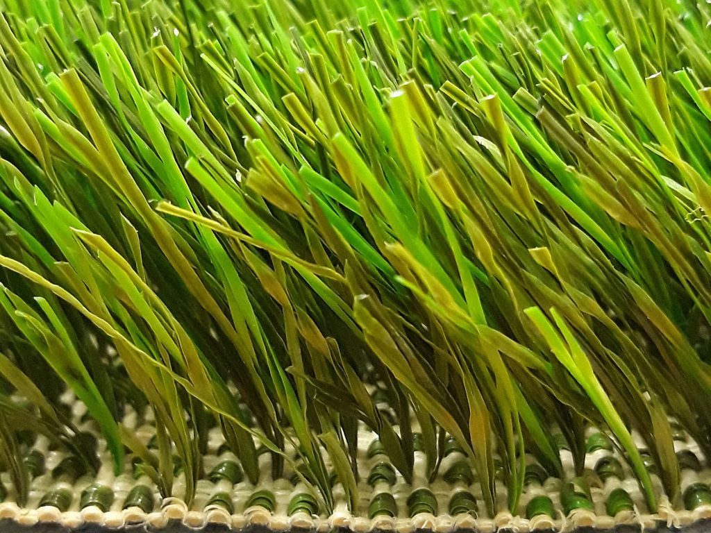 Woven artificial grass is eco.